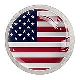 maniglie per porta bandiera americana usa pomelli per mobili bambini 4 pezzi maniglia per mobili cristallo maniglia del cassetto per armadi cassetti mobili porte 3.5×2.8cm