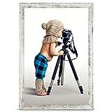 Stallmann Cadre photo en bois MDF Blanc 10 x 15 cm, Bois, vintage, 70 x 100 cm