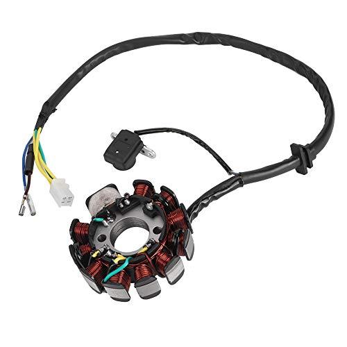 Estator magneto de bobina de 11 polos adecuado para motor de scooter Gy6 de 150 cc (goma + hierro + cobre)