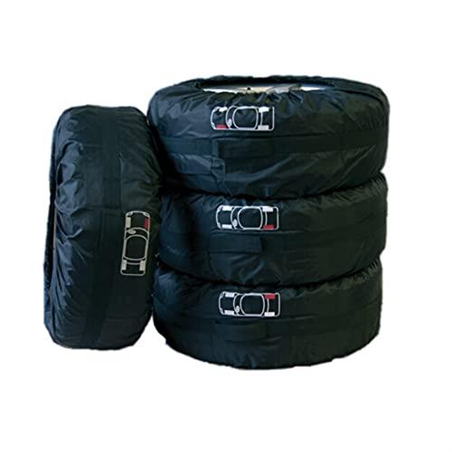 Funda Protectora Para NeumáTicos,Fundas De Rueda Cubierta de neumáticos de repuesto para el coche para el verano bolsas de almacenamiento del protector de neumáticos del neumático del invierno de vera