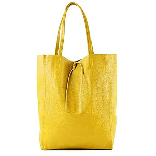 MARANT - SHARON Shopper Bag a spalla in pelle con doppio manico - Giallo