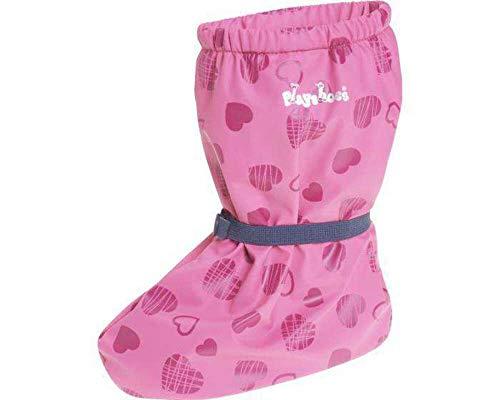 Playshoes Baby-Mädchen Regenfüßlinge mit Fleece-Futter Herzchen Stiefel, Pink (Pink 18), Small EU