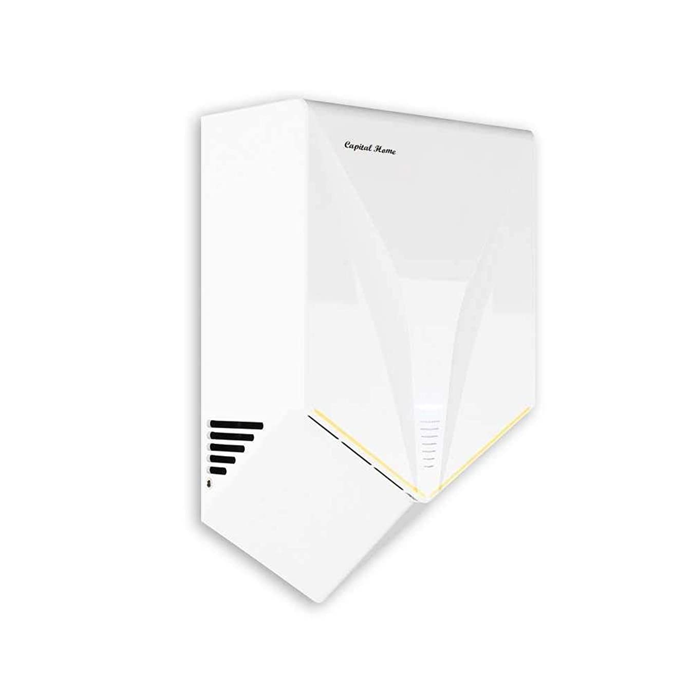 Capital Home Hand Dryer, Commercial Hand Dryer, Airblade Voltage AC110V- Dry Hands in 6s, Low Noise 60 dB, ABS Material 1000W (White)