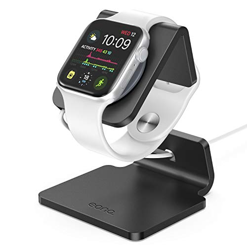 Eono Essentials Ladestation für Apple Watch, Charging Dock Station : Halterung Ständer kompatibel mit Apple Watch Series 4, Series 3, Series 2, Series 1 - Schwarz