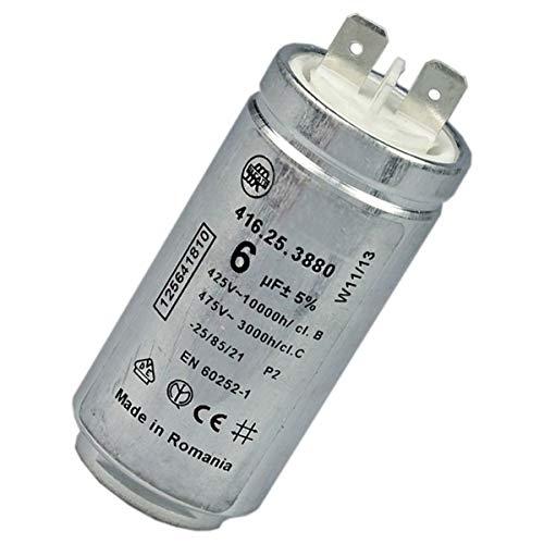 CONDENSATEUR 6 MF 450 V POUR SECHE LINGE ELECTROLUX - 125641810