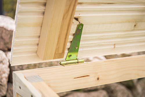Mähroboter Garage aus Holz – Carport für Rasenroboter - 5