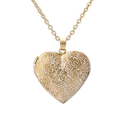 Fulltime_Collier coeur pour femme/collier d'amour aile d'ange incrusté de diamants met en valeur votre personnalité/cadeau de fête unique (Collier médaillon)