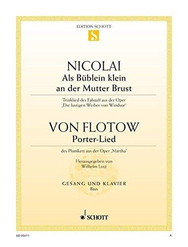 Als Büblein klein an der Mutterbrust / Porter-Lied: Trinklied des Falstaff aus