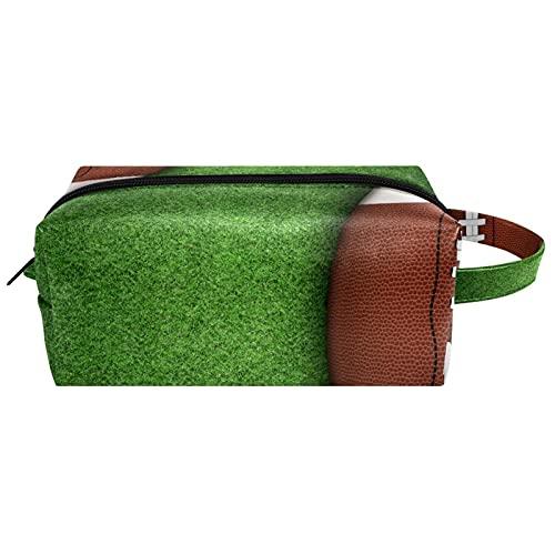 Bolsa de cosméticos para mujer de piel de microfibra con cremallera