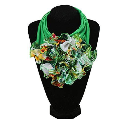 Hmeili Scarf 28 Farben Mode Blumenschal Für Damen Mode Halstuch Ring Schals Kragen Schal Für Frauen