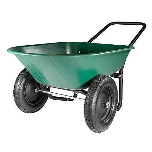 Garten Kipper - 2 Reifen Schubkarre Garten Wagen - Grün