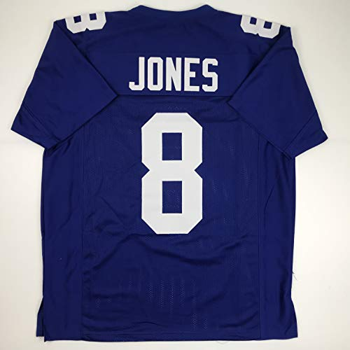 Unsigned Daniel Jones New York Blue Custom Stitched Football Jersey Size Men's XL New No Brands/Logos