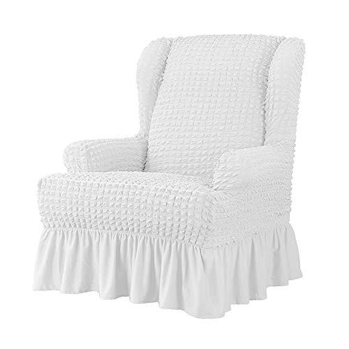 LYY Funda para sofá, funda sólida Seersucker, falda elástica, funda universal a prueba de polvo, funda protectora para silla sencilla