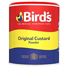 Birds Custard is the original custard brand Birds Custard was established in 1837 and loved by generations ever since. Bird's custard is made and served in millions of homes where proper custard is the heart of a good pudding. 600g of powder makes 16...