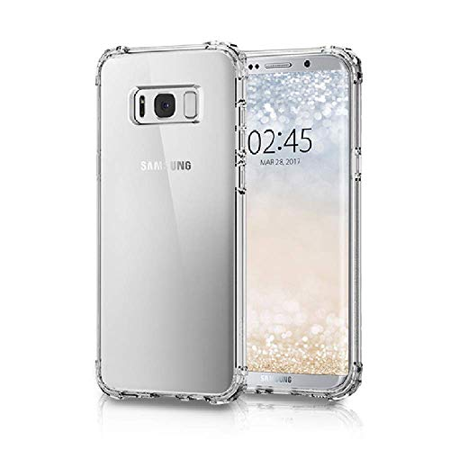 Amazon Brand – Solimo Mobile Cover (Soft & Flexible Shockproof Back Cover with Cushioned Edges)Transparent for Samsung Galaxy S8