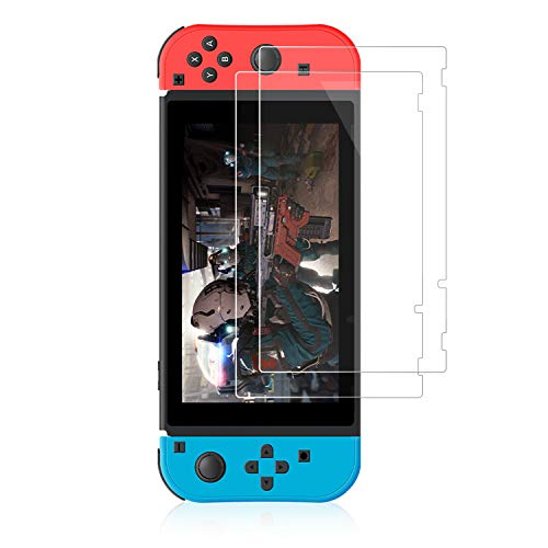 ?2 Pack?Tempered Glass Screen Protector Compatible with Nintendo Switch,Ultra-clear Transparent Anti-Scratch Screen Protector for Switch Lite (Nintendo Switch)