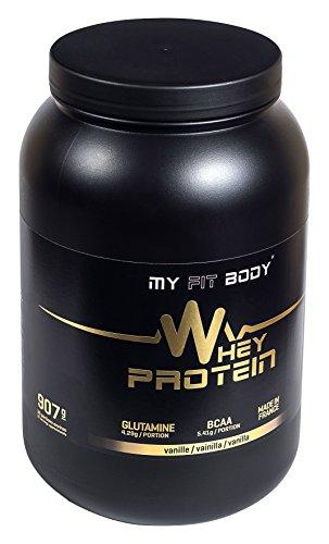 My Fit Body - Whey Protein Elite - Integratore Sportivo - Migliora i Risultati - Ideale per Aumentare la Massa Muscolare - Proteina di Siero di Latte - Gusto Vaniglia - 907 gr