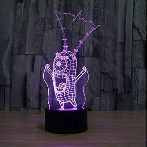 3D Illusion Nachtlampe Colorfu Minions Nachtlicht Led Tischlampe Touch Schreibtisch Beleuchtung Für Kinder Geschenk Geburtstag Party Schlafzimmer Home Deco