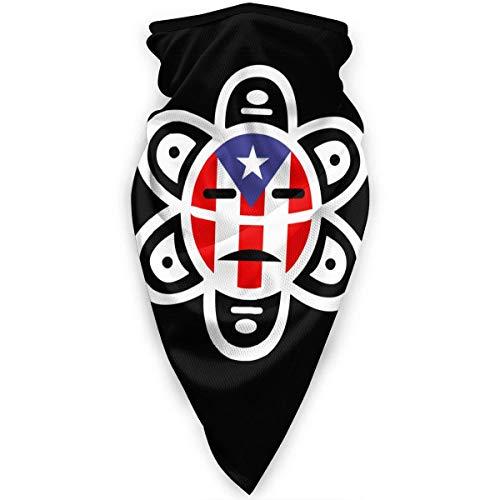 Puerto Rico Sun Tribal Hombres Mujeres Bandanas,Paño De Manguera,Magic Diadema,Diademas para Exteriores,Bufanda Multifuncional
