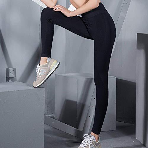 Pantalones de Yoga Sexis para Mujer, Mallas Deportivas de Cintura Alta, Control de Barriga, Mallas de Fitness Ajustadas sin Costuras elásticas Altas para Mujer XL Negro