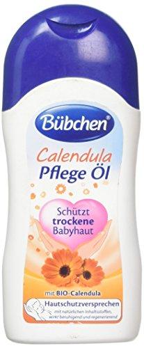 Bübchen Calendula Pflege Öl für trockene und sensible Babyhaut Baby Pflege- und Massageöl, mit BIO-Calendula, Menge: 1 x 200 ml
