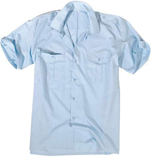 Mil-Tec US Diensthemd kurzarm für Sie und Ihn (Hellblau/XXL)