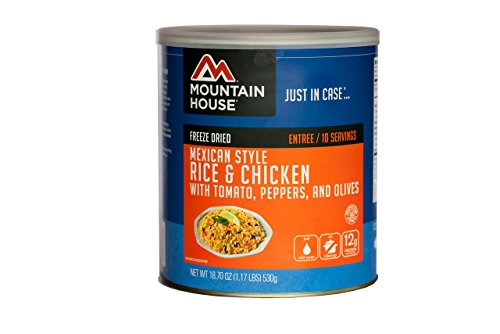 Mountain House Mexican Style Rice & Chicken #10 Can, tan