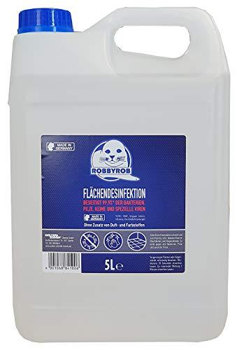 ROBBYROB Hygiene Flächen Desinfektion Isopropanol XL 5 Liter Karnister 99,9{93f284039a2b666c519884cce7b73fc9ba8062a575a4f8ce0719eabd73a90afe} Bakterienbeseitigung