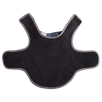 GWELL Gilet pour Chien Veste Haute Qualité Imperméable Manteau de Pluie avec Polaire Veste d'hiver Vêtements Petites Grandes Chien Outdoor Couleur Taille au Choix Noir XXXL