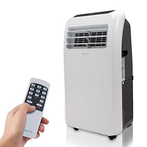 SereneLife SLPAC Portable Air Conditioner, 10,000 BTU + HEAT, White