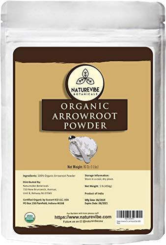 Naturevibe Botanicals Organic Arrowroot Powder, 16 Ounces | Arrowroot...