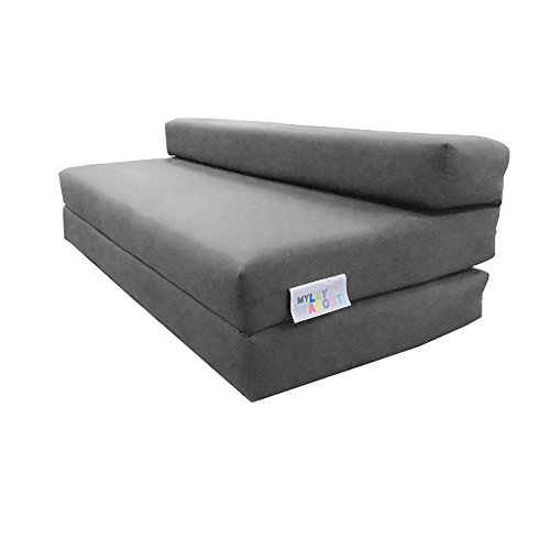 My Layabout Double | 2 Seater | Kids Z Bed/Sofa bed/Fold up bed | Available in 10 colours (Grey)