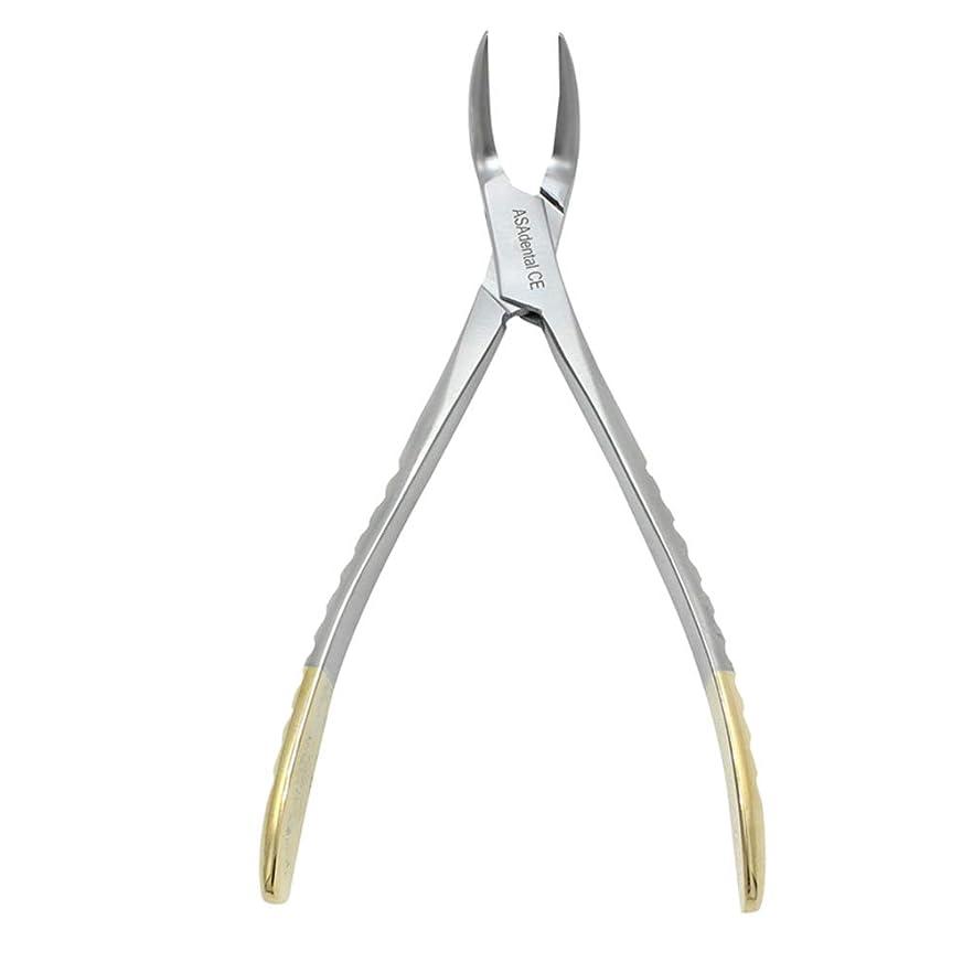 砂利本部中絶SUPVOX 歯科用プライヤーステンレス鋼残留歯根鉗子湾曲ピンセットデンタルケアツール