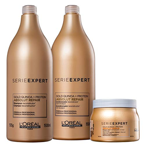 Kit L'Oréal Professionnel Serie Expert Absolut Repair Gold Quinoa + Protein Salon Trio (3 Produtos)