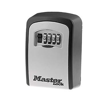 Master Lock 5401D Set Your Own Combination Wall Mount Lock Box 5 Key Capacity Black