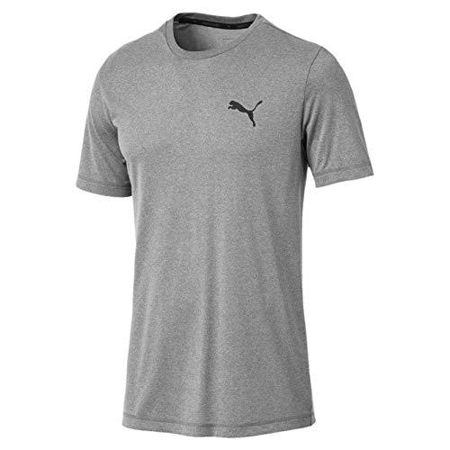PUMA Active T Camiseta, Hombre, Gris (Medium Gray Heather), M