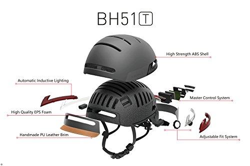 Livall bh51t Fahrradhelm mit Fernbedienung und 270Grad integrierter LED-Kontrollleuchten, Unisex, BH51T, Blau – Misty Blue, Nicht zutreffend - 6