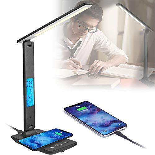 WDSZXH Lámpara Escritorio, Lámpara Led de Mesa, Regulable Cuidado a Ojos, 3 Niveles de Brillos Lámpara Escritorio, Control Táctil, Bajo Consumo de Energía