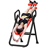 GYJ Gravity Heavy Duty Inversion Table, Foldable Trainer Folding Table Trainer, Coach Improves Back...