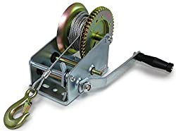 Carparts-Online 27919 Professional winch hand winch with wire rope 1500 kg 10 meters