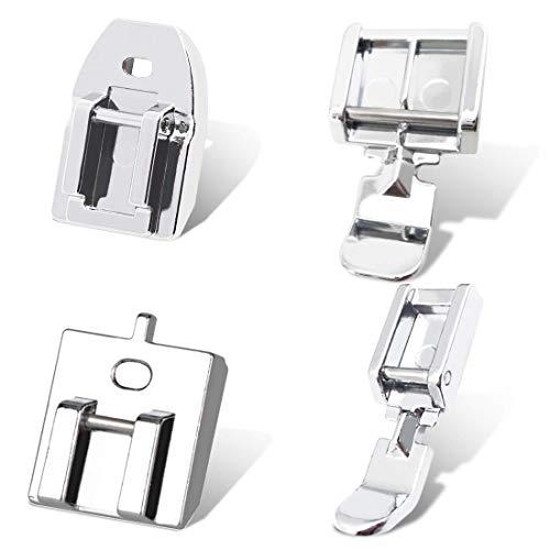 Kalevel 4pcs Zipper Foot Sewing Machine Presser Foot Set Invisible Snap on Narrow Zipper Foot...