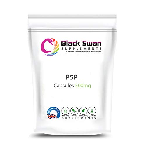Black Swan P-5-P Supplement—General Wellbeing—Weight Loss—Bowel Health—Anti-inflammatory- Boosts Immune System—PMS Symptoms—40mg Capsule (30 caps)