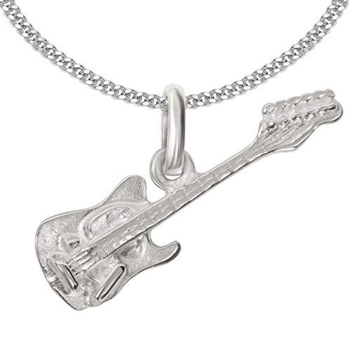 Clever Schmuck Set plateado niña colgante pequeña guitarra eléctrica 20 x 15...