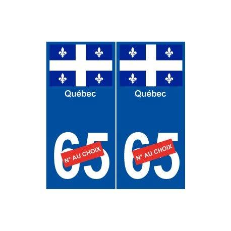Québec Aufkleber für Nummernschild, Motiv Stadt der Welt, abgerundete Ecken