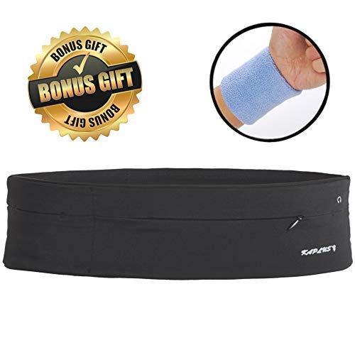 kaplus'y Running Belt, Stylish Fanny Pack Perfect for Travel, Outdoor Hiking, Jogging Outdoor, Unisex Women, Men and Unisex (Black, Medium)