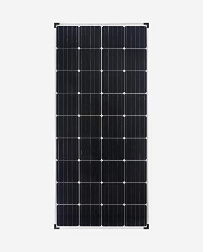enjoysolar Monokristallin 24V Solarmodul Solarpanel ideal für Garten Wohnmobil Caravan … (170W/24V)
