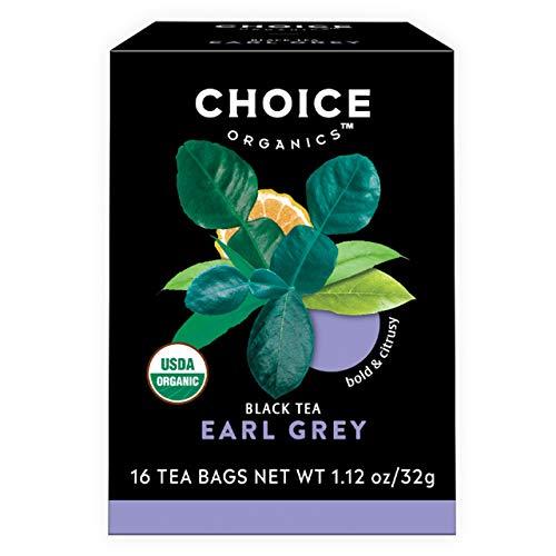 Choice Organics – Organic Earl Grey Tea (6 Pack) – Organic Black Tea – 96 Tea Bags