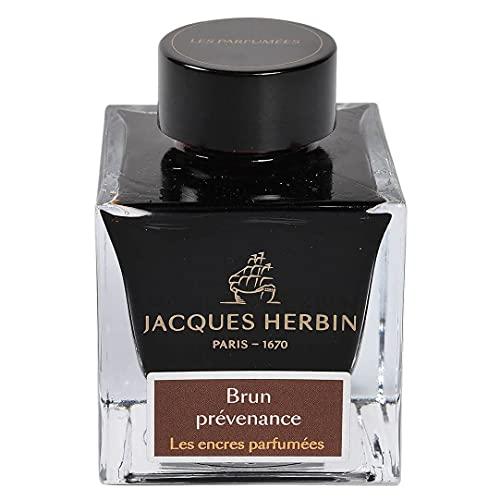Jacques Herbin 14747JT - Botella de tinta perfumada (50 ml), color marrón