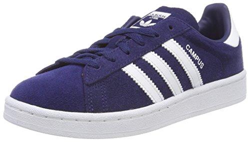 adidas Campus, Scarpe da Ginnastica Basse Unisex-Bambini, Blu (Dark Blue/Footwear White), 30 EU