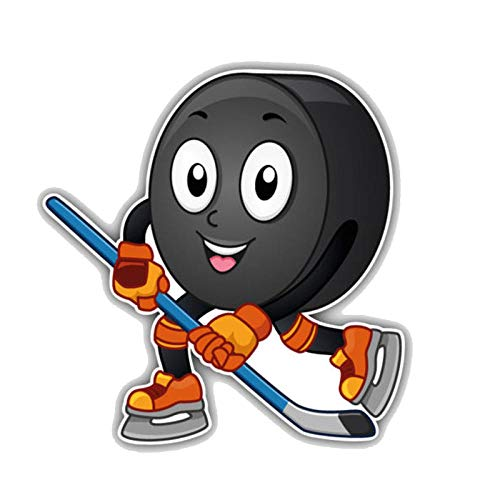 ytrewq Cartoon Auto Aufkleber niedlich Eishockey Puck Smiley Dekoration Abdeckung Kratzer PVC Aufkleber 12cm * 12cm